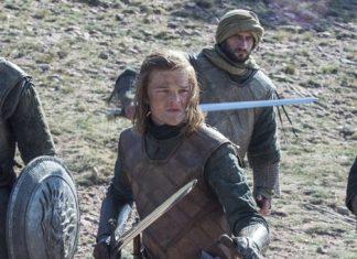 Ned Stark jovem com seus guerreiros