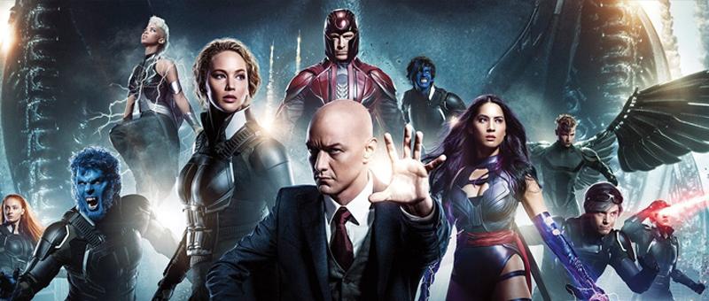 Poster do filme com todos os personagens de x-men: apocalipse