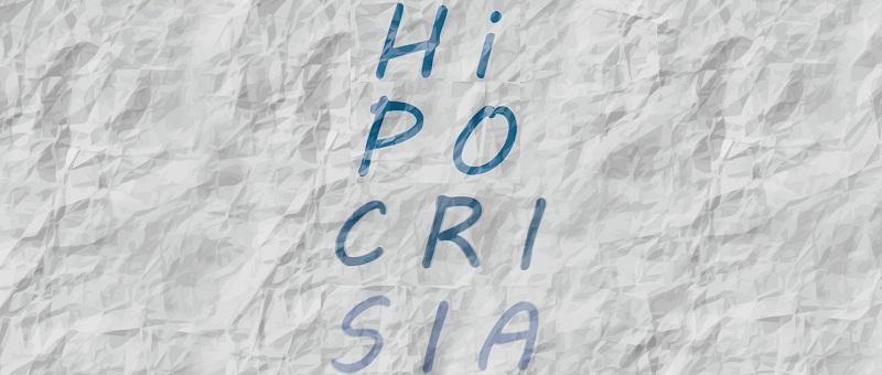 capa da postagem - Hipocrisia