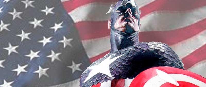 capa da postagem, com o capitão américa