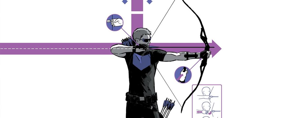 marvel comics gavião arqueiro e o design suíço