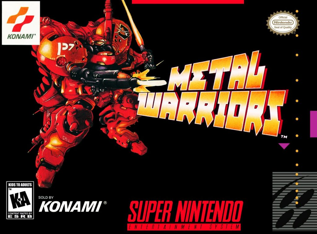 capa do jogo metal warriors para snes