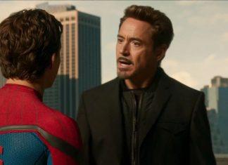 homem-aranha e tony stark conversando