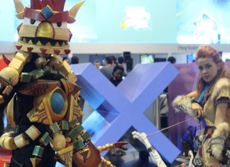 cosplay de horizon na bgs Brasil Game Show