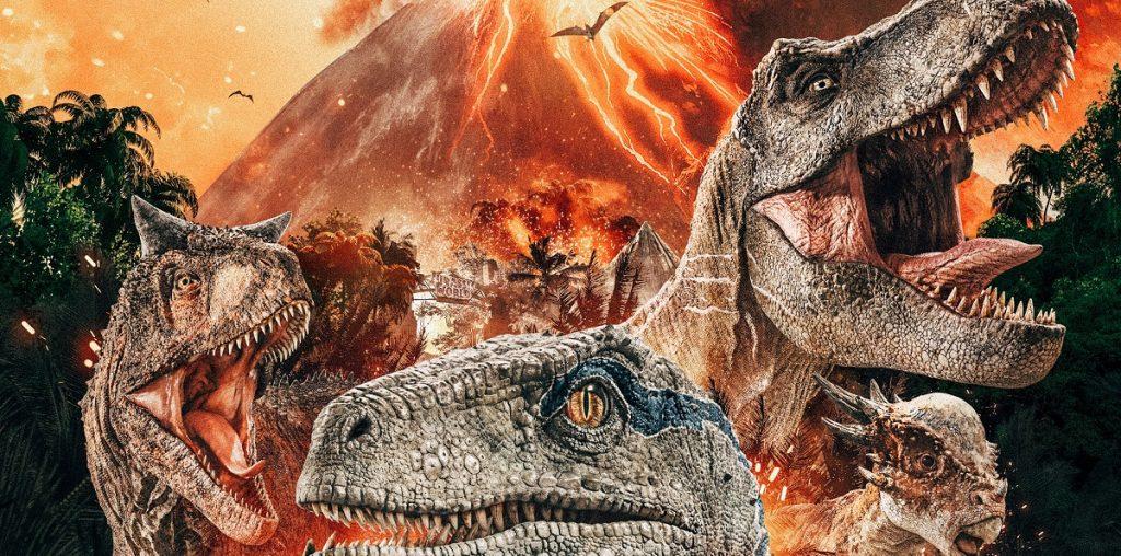capa de Jurassic World: Reino Ameaçado filme no cinema