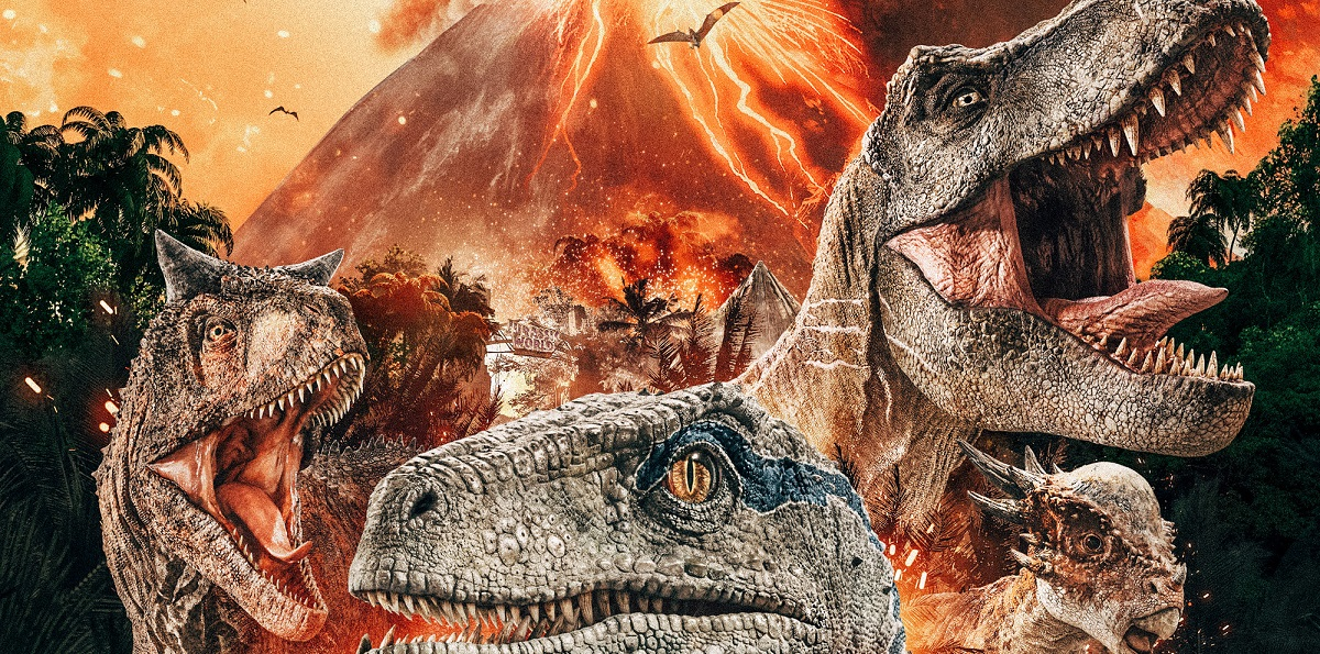 capa de Jurassic World: Reino Ameaçado filme no cinema