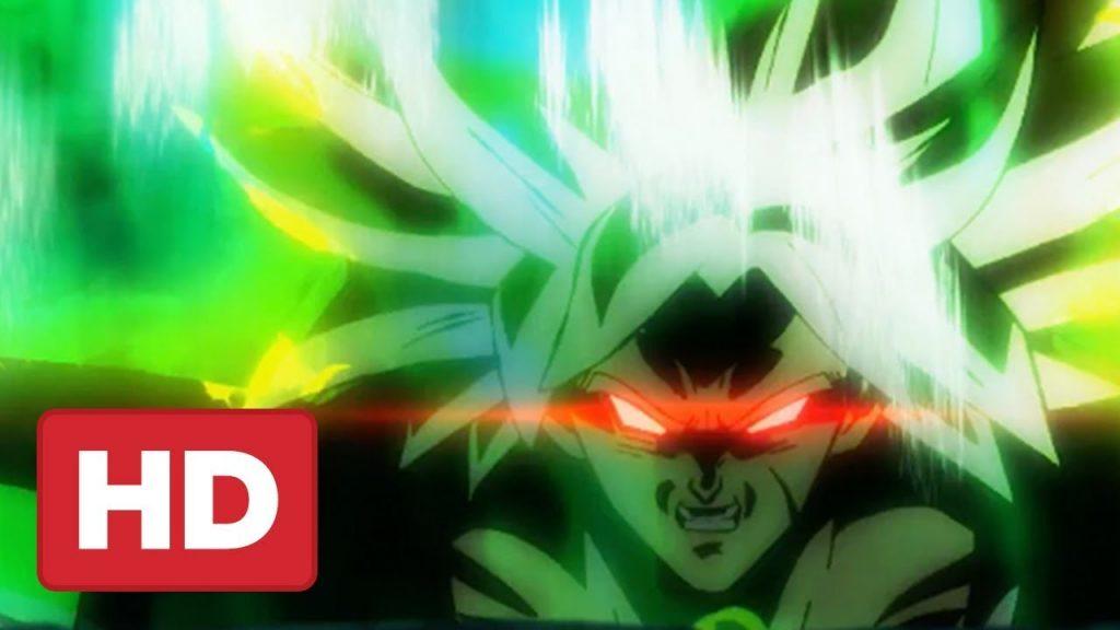 capa do trailer de Dragon Ball Super: Broly