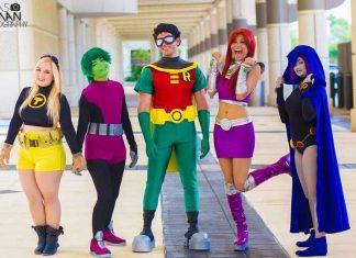 cosplays jovens titãs
