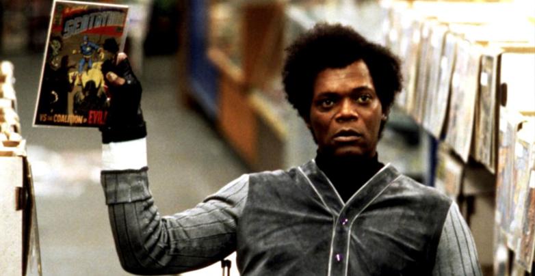 Samuel L Jackson em cena de Corpo Fechado