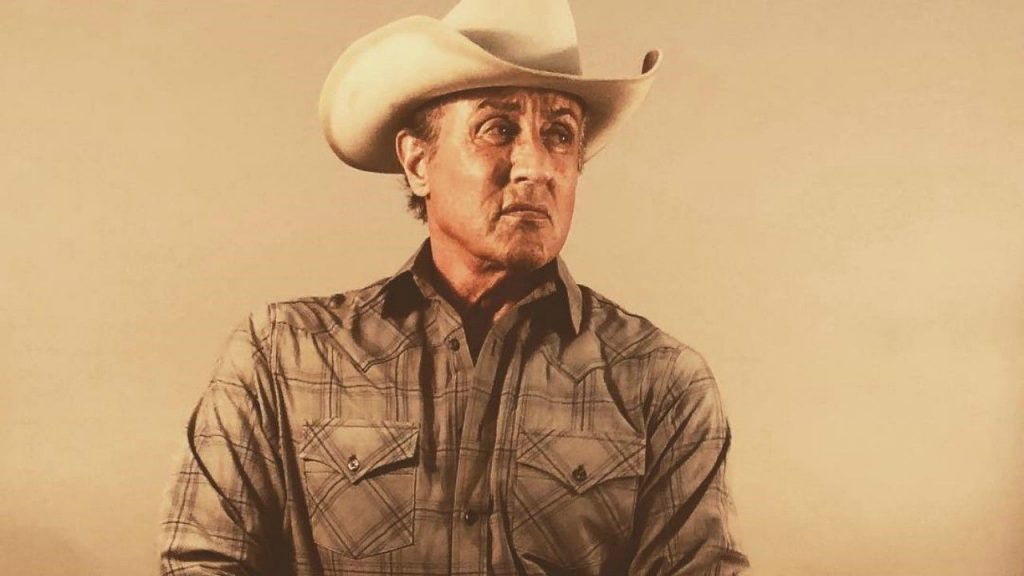 Sylvester Stallone em foto de Rambo V