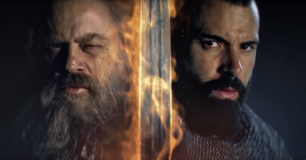 Mark Hamill no cartaz da 2a temporada de Knightfall