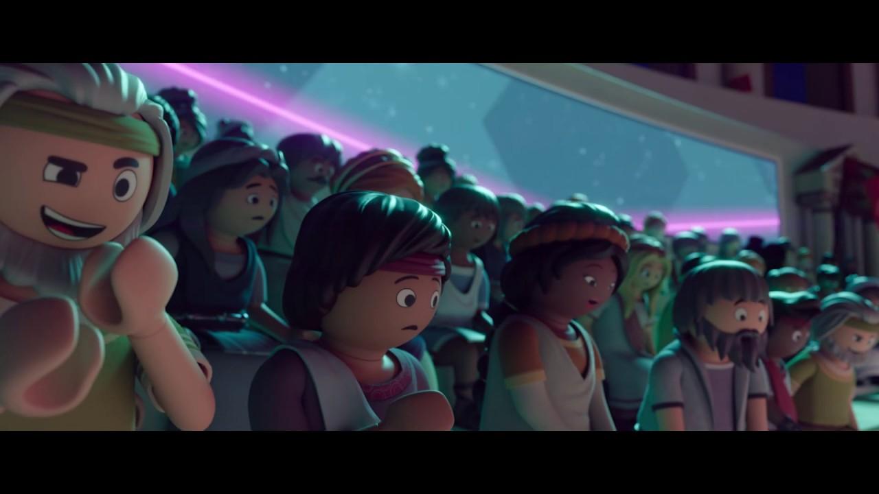 cena do trailer d Playmobil - O Filme