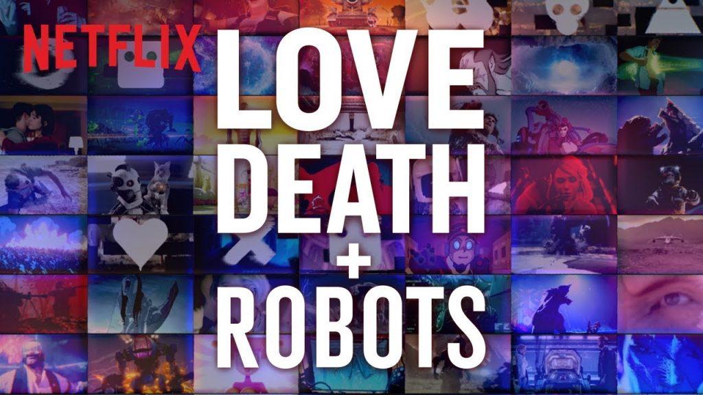 cartaz de love, death & robots da netflix