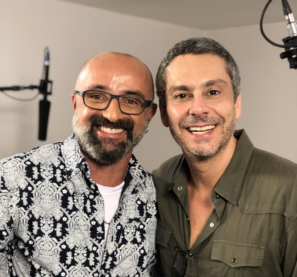 kiko mollica e alexandre nero em foto para o cinejornal do canal brasil