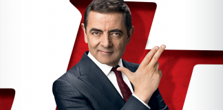 Rowan Atkinson no poster de Johnny English 3.0
