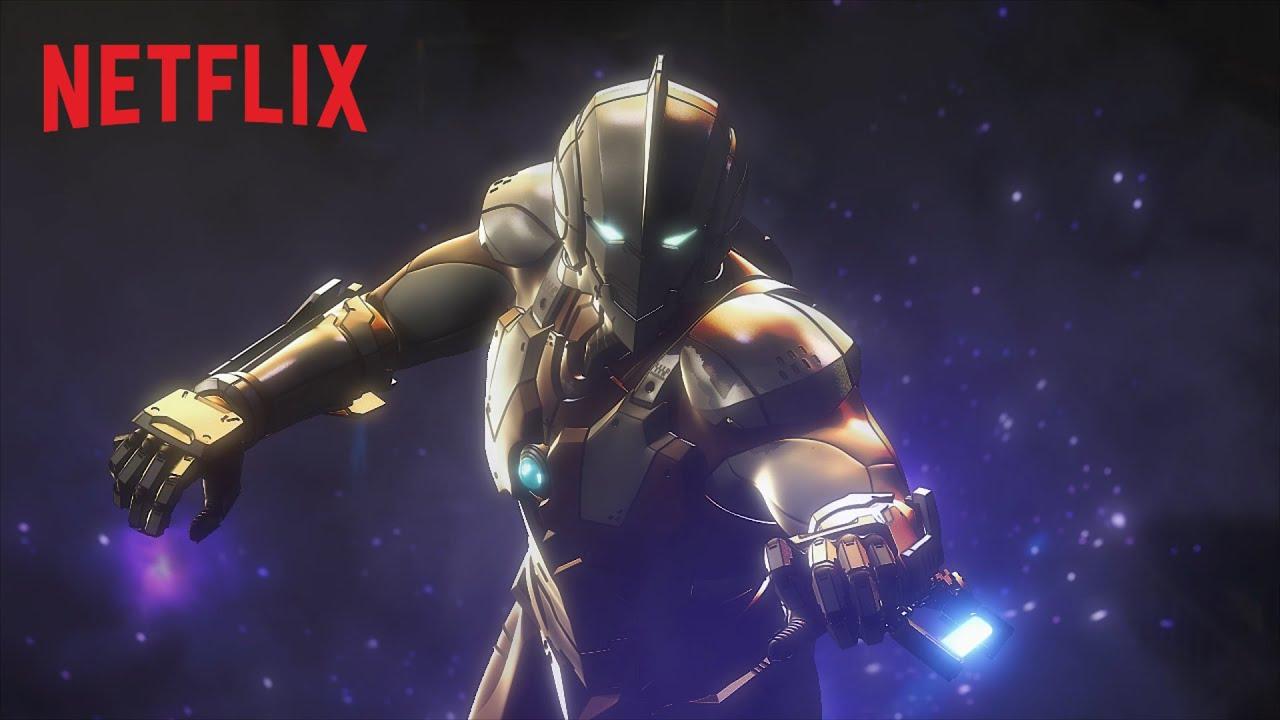 capa da série do Ultraman na netflix