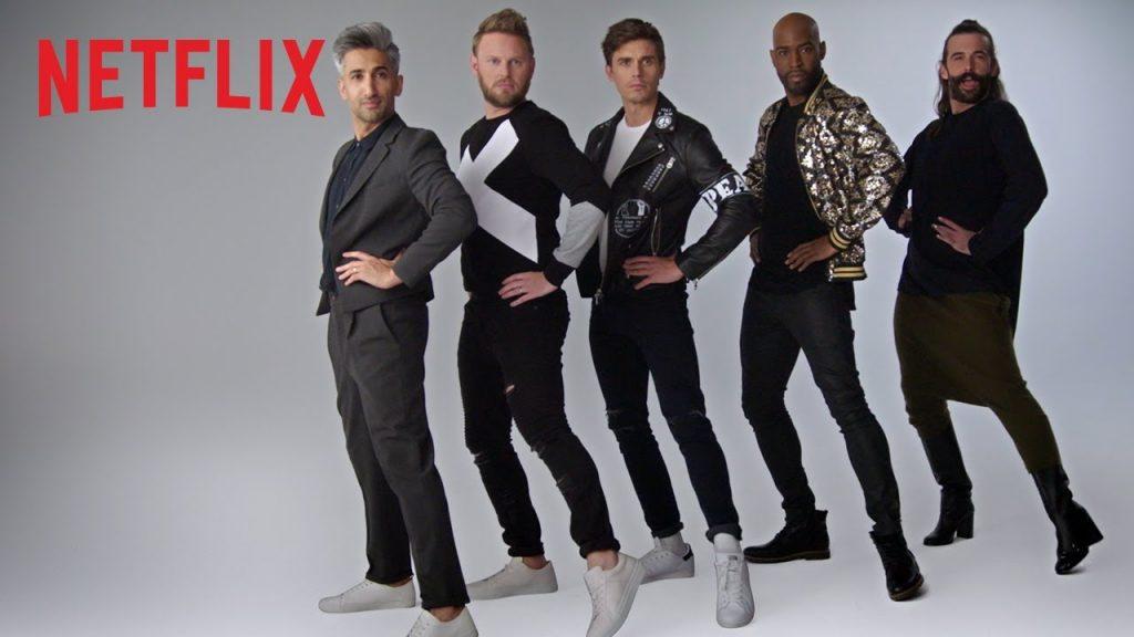 elenco de Queer Eye na capa da 3a temporada pela netflix