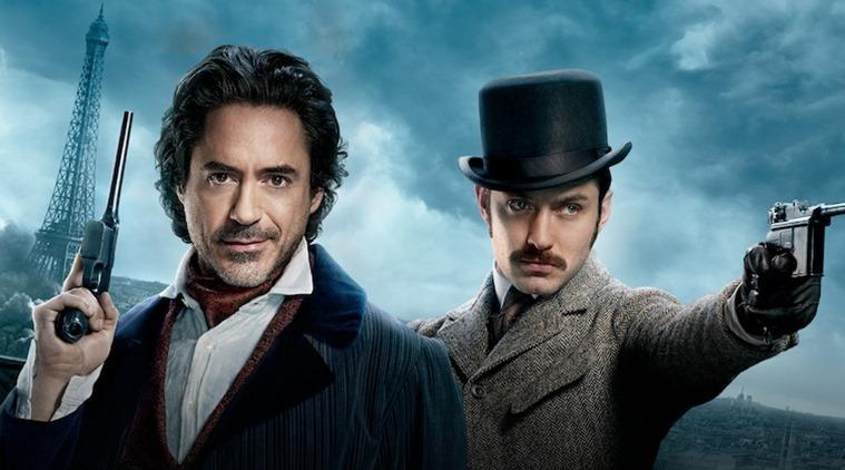 Sherlock Holmes e Watson na capa do segundo filme