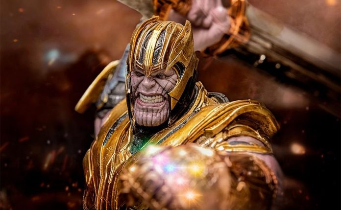 marvel iron studios vingadores ultimato thanos estatueta
