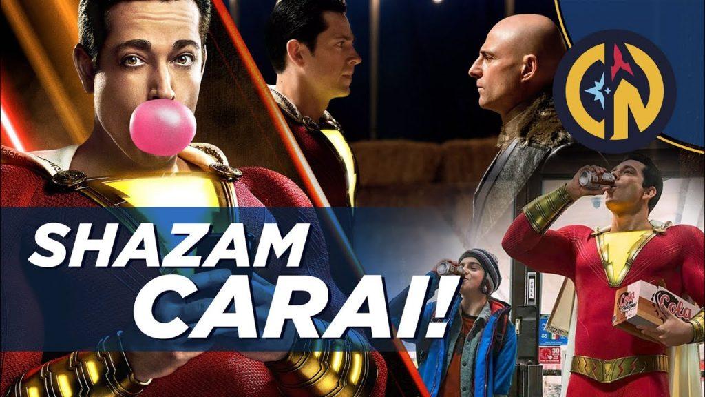 shazam! vídeo cosmonerd warner