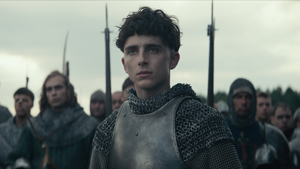 Timothée Chalamet é Henrique V