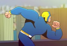 resistente super-herói brasileiro