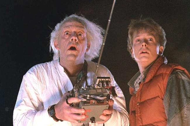 Michael J. Fox e Christopher Lloyd em cena