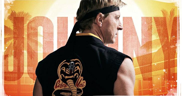 William Zabka em cartaz da série Cobra Kai