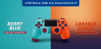 PlayStation 4 | DualShock 4: Berry Blue e Laranja Sunset
