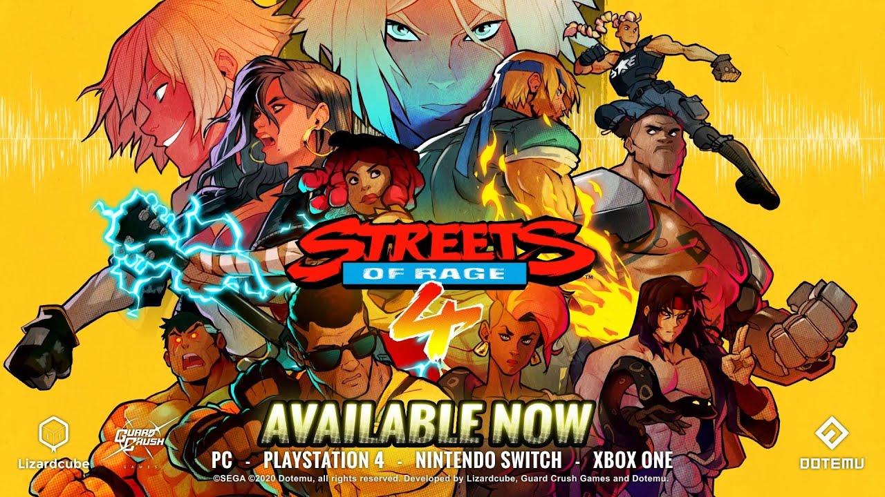 Streets of Rage 4 chega aos consoles e PC