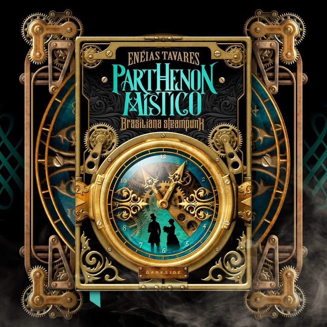 Parthenon-Mistico-livro-eneias-tavares-darkside-books-brasiliana-steampunk, capa do livro
