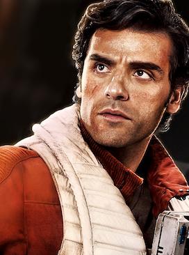 Oscar Isaac como Poe Dameron em cartaz de Star Wars - O Despertar da Força