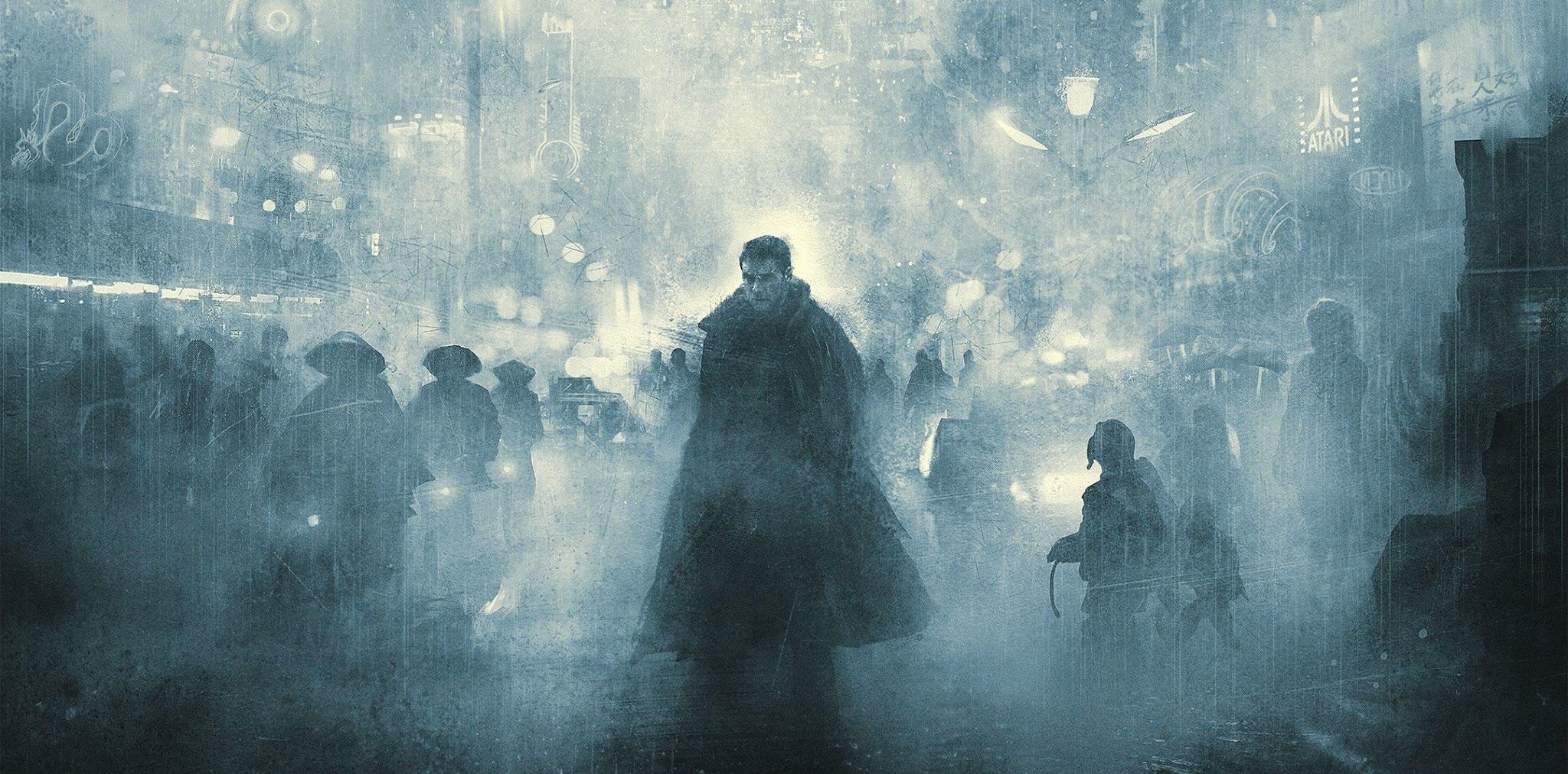 1 / 1 – blade runner poster de karl fitzgerald filme de ridley scott