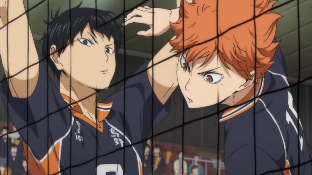 cena de anime sobre esporte das olimpíadas