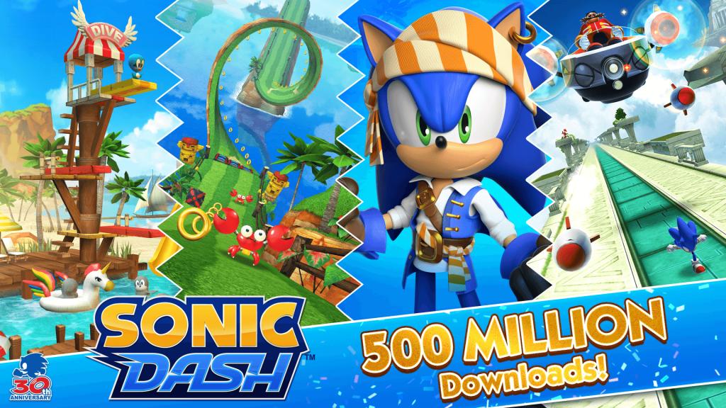 Sonic Dash 500 milhões de downloads