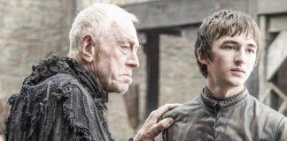 Um velho e Bran em Winterfell