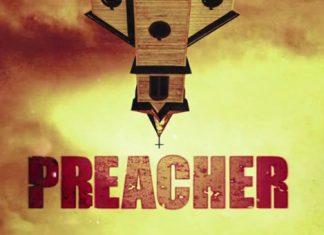 Uma igreja de cabeça para baixo e a palavra Preacher