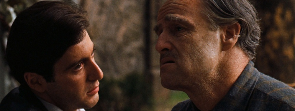 Al Pacino e Marlon Brando em O Poderoso Chefão