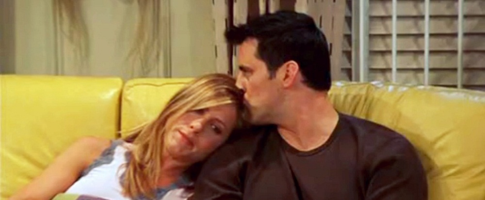 Joey e Rachel na série Friends