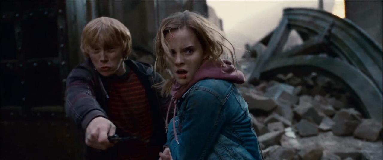 Rony e Hermione em Harry Potter