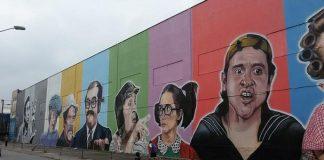 Imagem destacada da postagem - um mural na zona sul de são paulo com desenhos dos personagens da série chaves