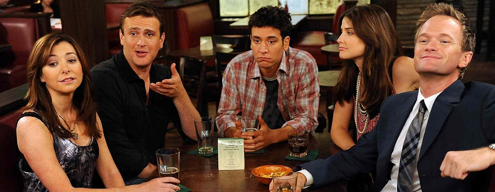 Lilly, Marshall, Ted, Robie e Barney em How I Met Your Mother