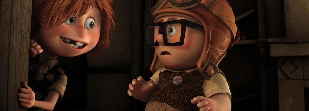 Ellie e Carl quando crianças em UP - altas aventuras