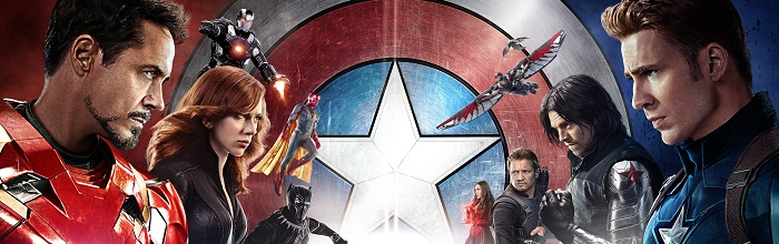 poster de capitão américa guerra civil com os heróis
