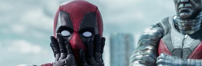 deadpool em cena do filme com colossus