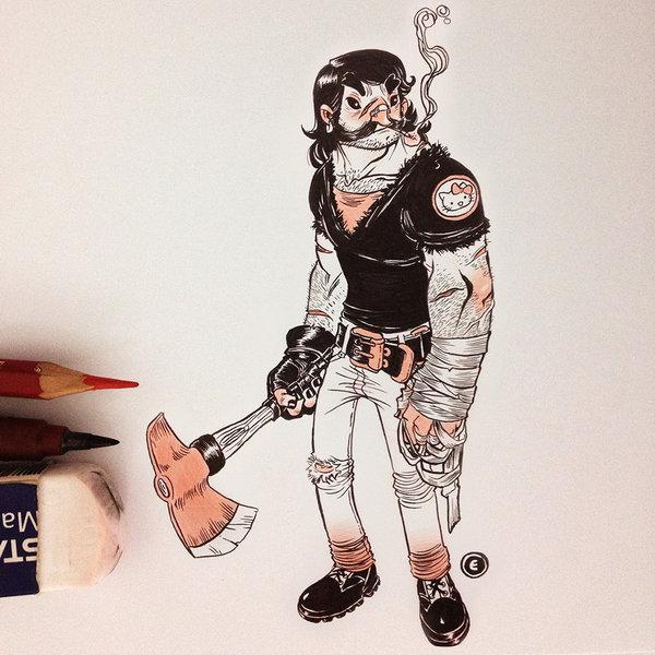 Desenho de Jake Parker