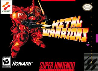 capa do jogo metal warriors para snes