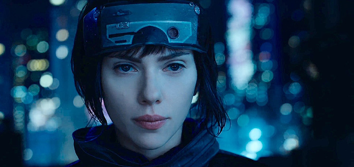 cena de ghost in the shell com scarlett johansson