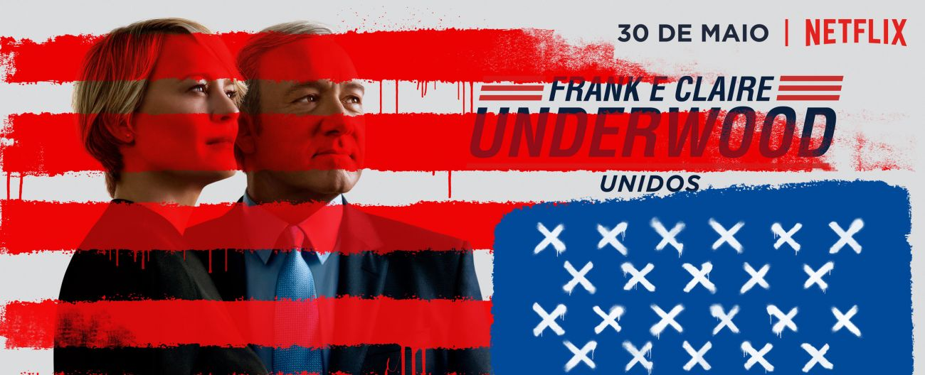 poster de house of card, com claire e frank underwood.