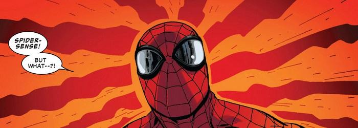 imagem de uma hq do homem-aranha, usando o sentido aranha